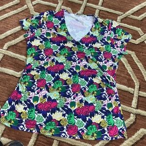 EUC Boden size 16 floral crossover blouse